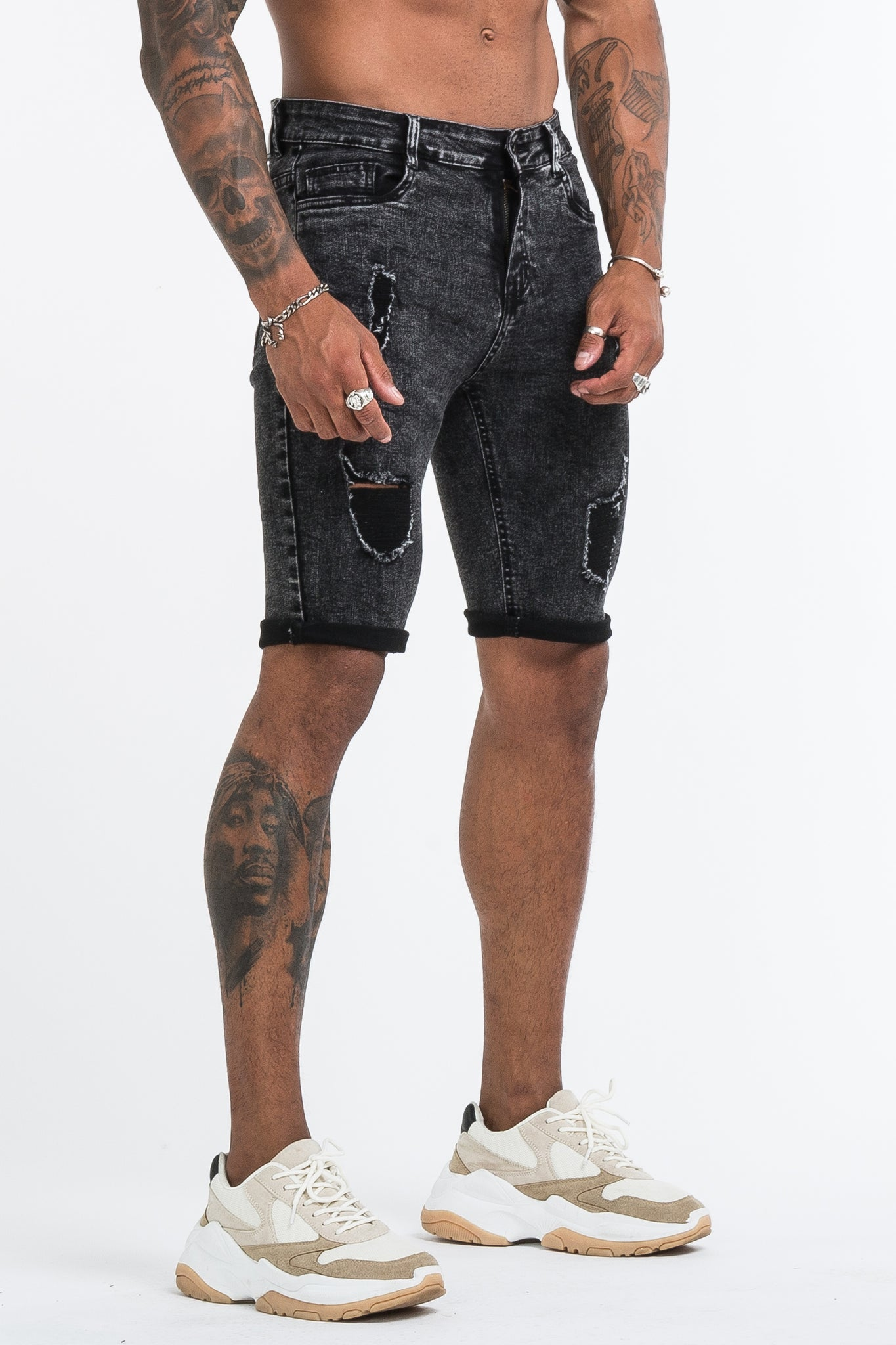 THE MEDUSA 2.0 SHORTS - GREY - ICON. AMSTERDAM