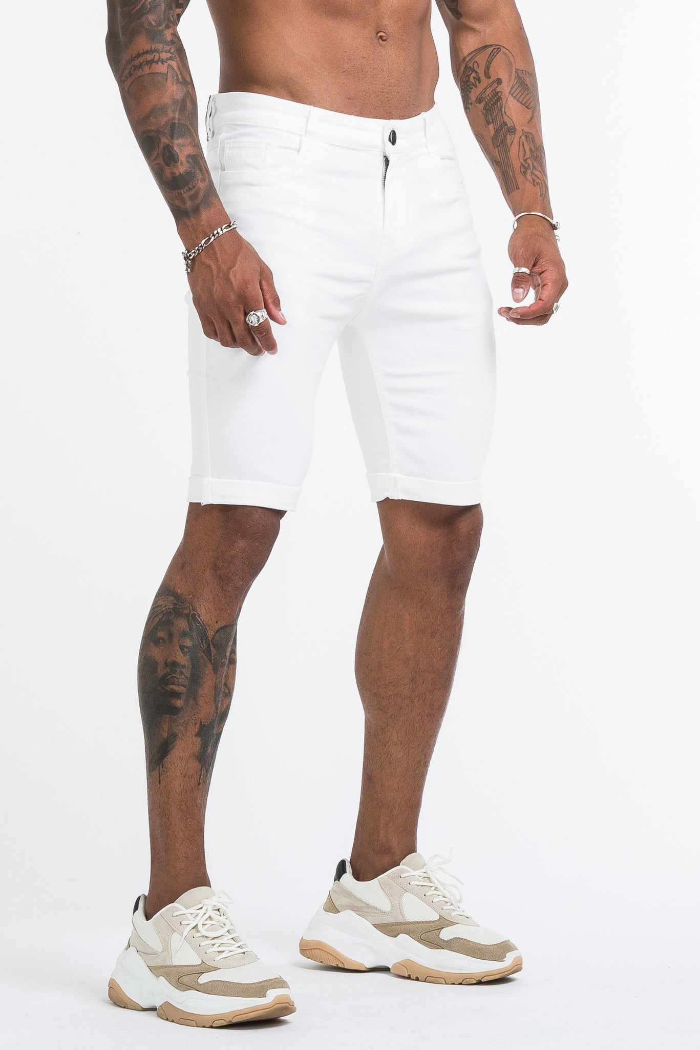 THE SAINT SHORTS - WHITE - ICON. AMSTERDAM