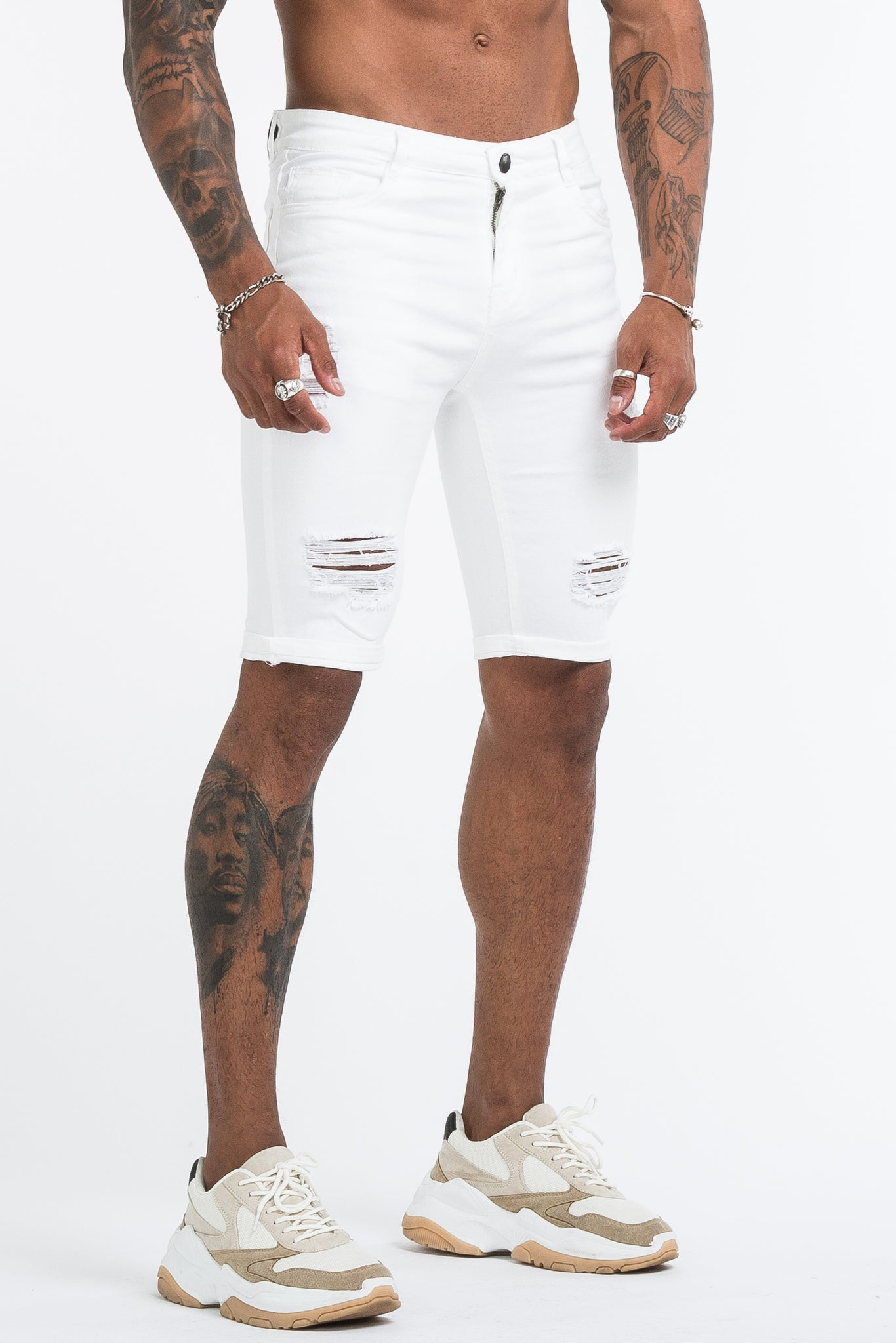 THE SAINT 2.0 SHORTS - WHITE