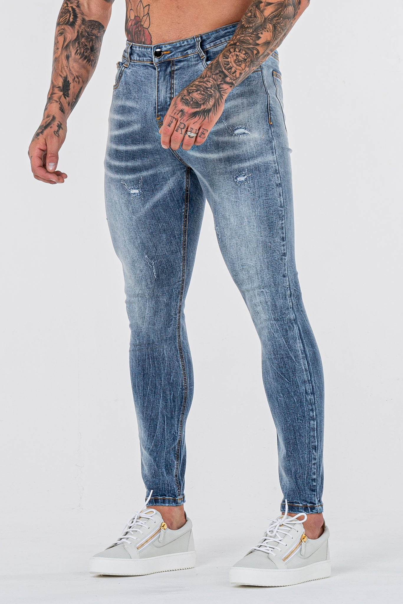 THE GATO JEANS - STEEL BLUE - ICON. AMSTERDAM
