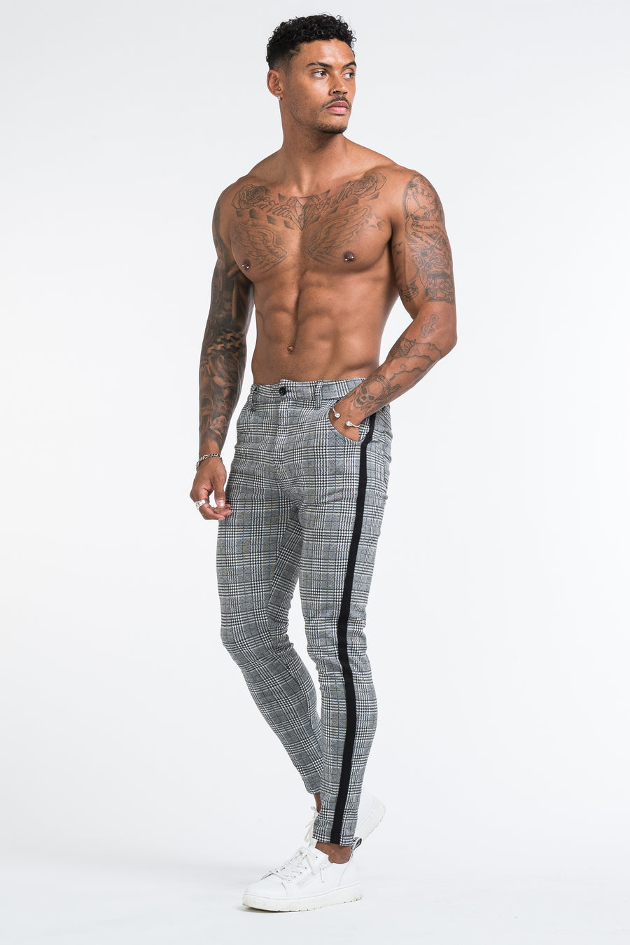 THE VIERA TROUSERS - GREY/BLACK - ICON. AMSTERDAM
