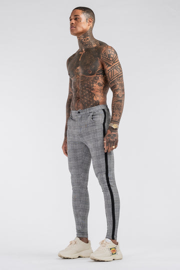 THE VIERA TROUSERS - GREY/BLACK