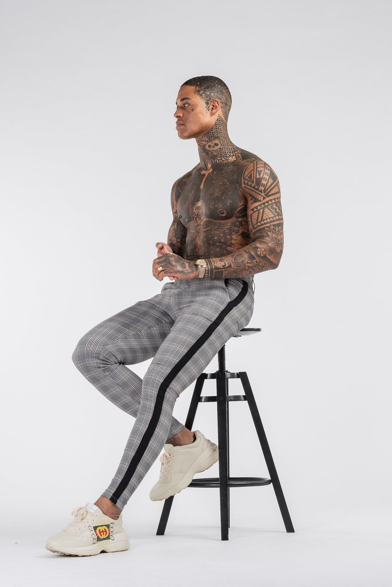 THE VIERA 2.0 TROUSERS - GREY/BLACK