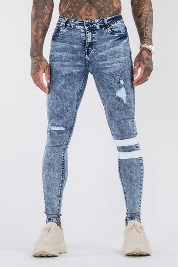 THE GLITCH JEANS - LIGHT BLUE - ICON. AMSTERDAM