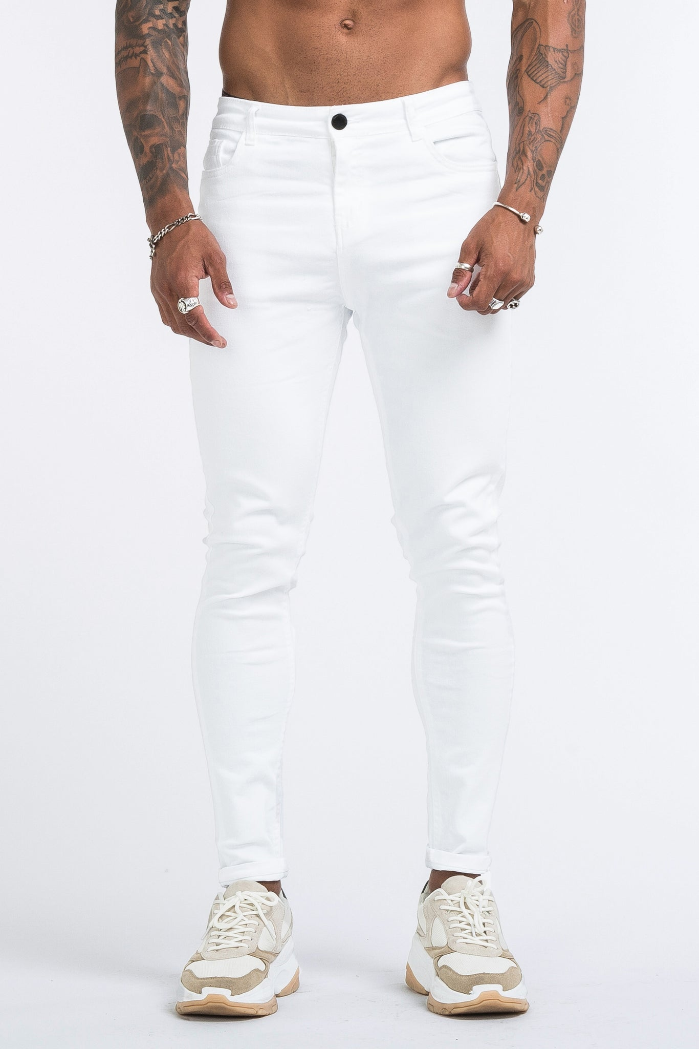 THE LORENZO JEANS - WHITE - ICON. AMSTERDAM