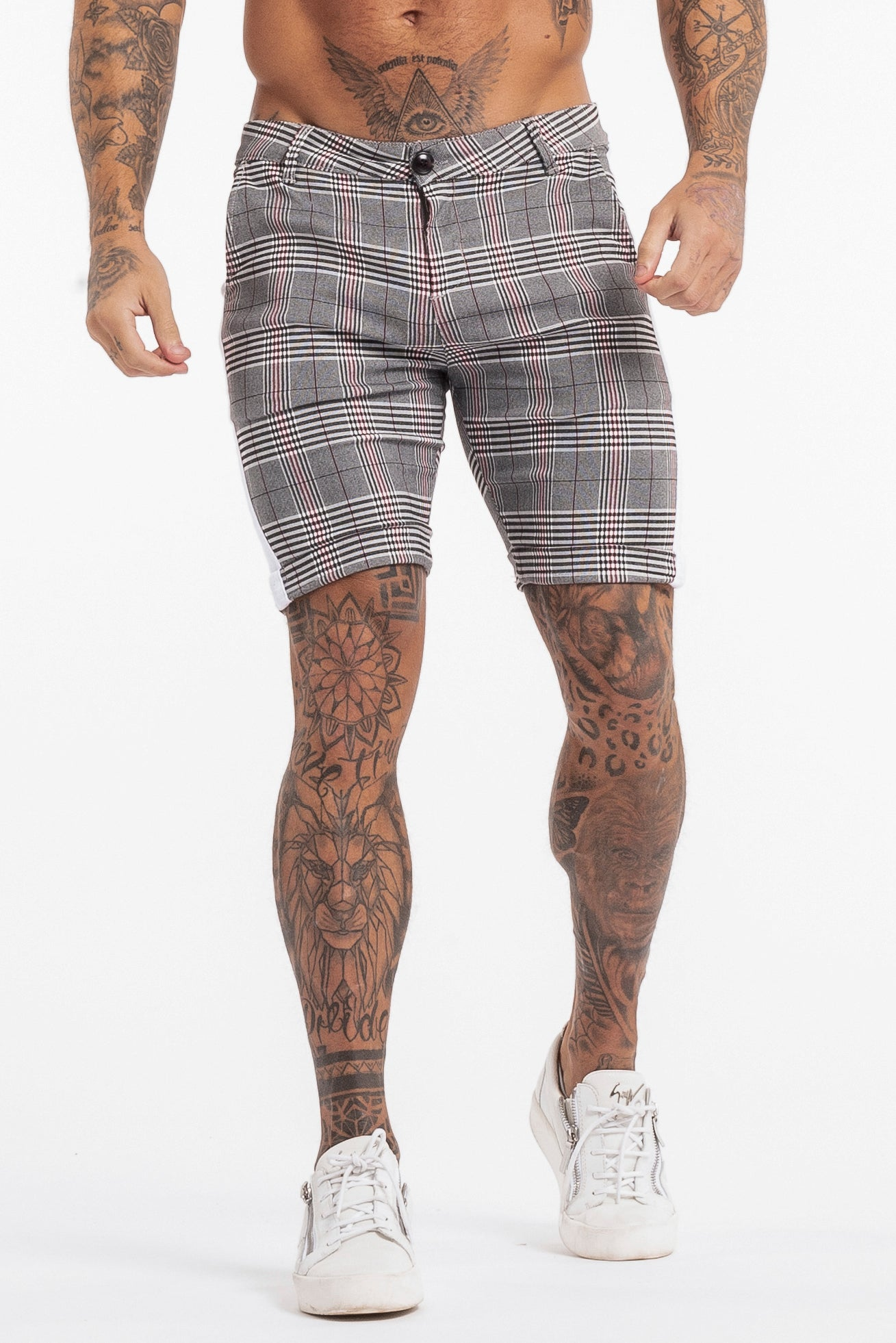 THE VIERA SHORTS - GREY/WHITE