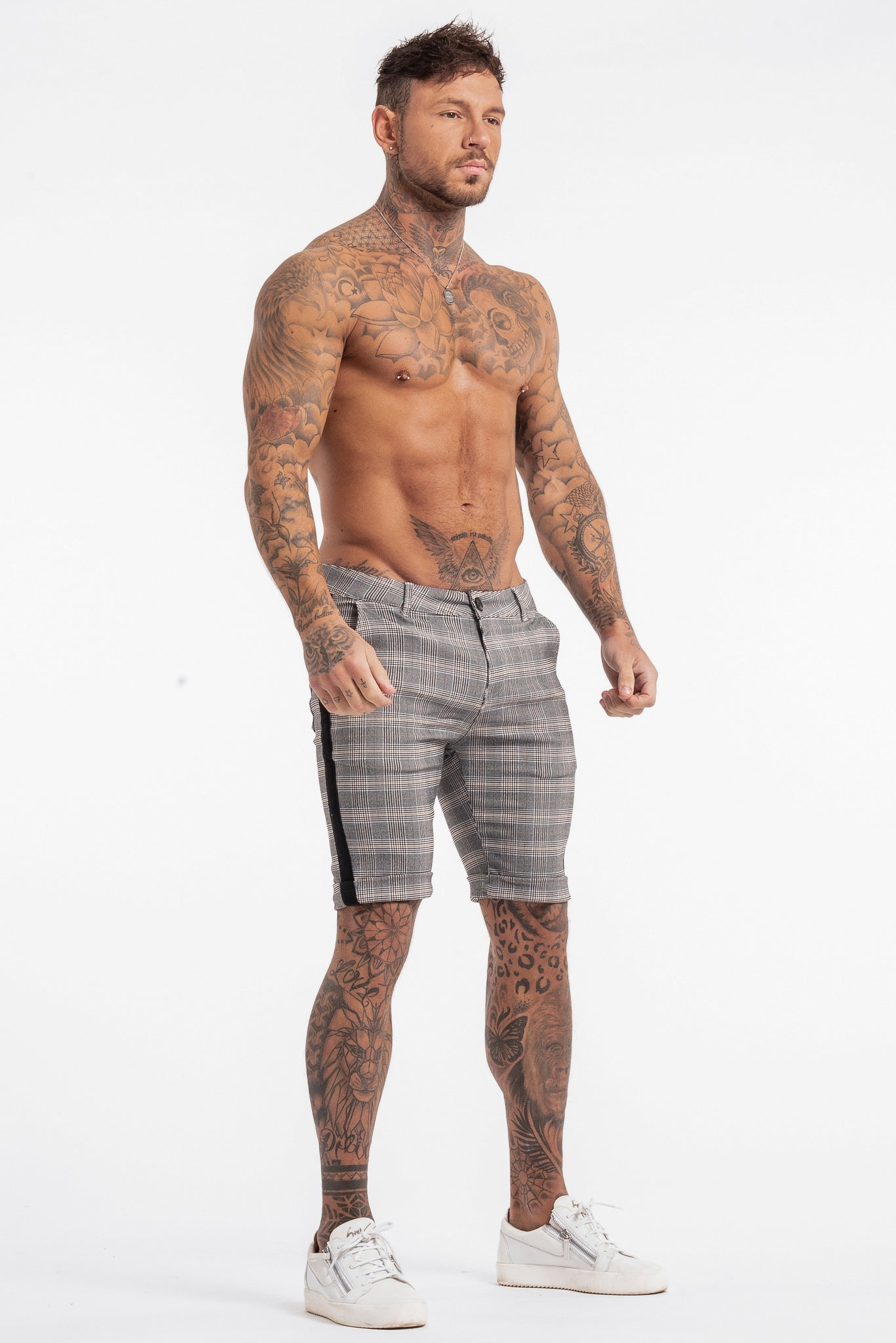 THE VIERA SHORTS - GREY/BLACK