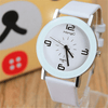 All White Luxury Quartz Leather Watch