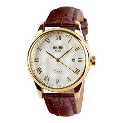 White Gold Water-resistant Casual Quartz Watch