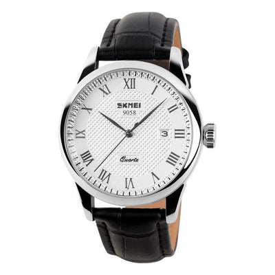Silver Black Water-resistant Casual Quartz Watch