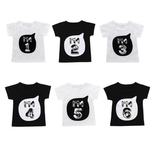 a8f4bfbc9 Short Sleeve Baby Tees Summer Boys Girls T-shirt Clothing Cute Number Print  Kid O