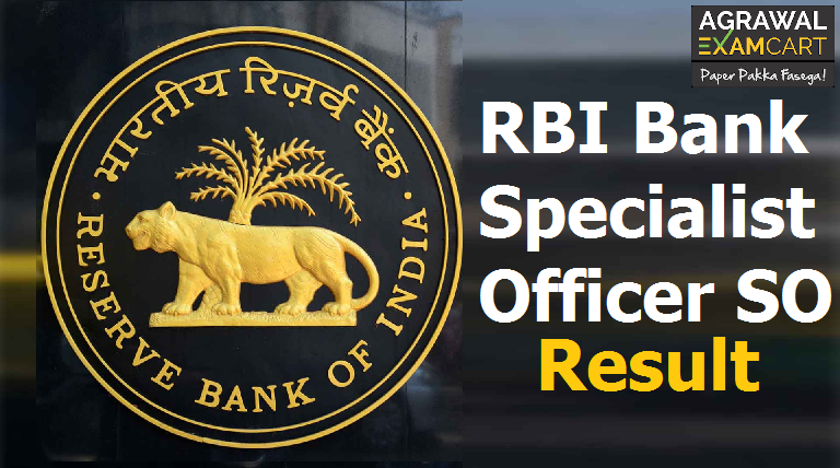 RBI Bank Specialist Officer SO Final Result 2019