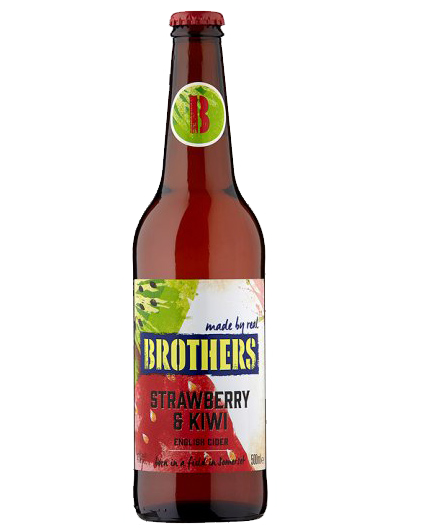英國兄弟士多啤梨奇異果酒 Brothers English Strawberry Kiwi Cider 500ml
