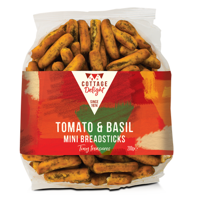 番茄羅勒迷你麺包棒 Tomato & Basil Mini Breadsticks 200g