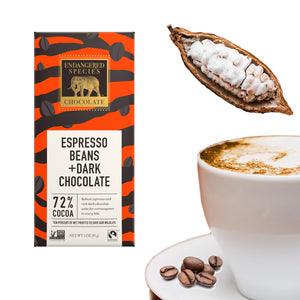 72%黑朱古力配意式濃縮珈琲砕豆 Espresso Beans with Dark Chocolate 85g