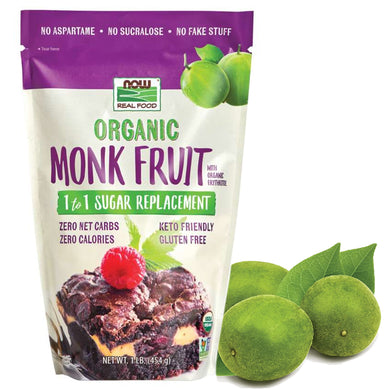 有機羅漢果1比1代糖 Now Foods Organic Monk Fruit 1-to-1 Sugar Replacement 454g