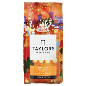 泰勒4級烘焙已磨巴西利亞珈琲豆 Taylors of Harrogate Cafe Brasilia Roast 4 Ground Coffee 227g
