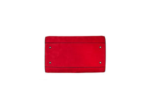 Red Suede Gatti Handbag