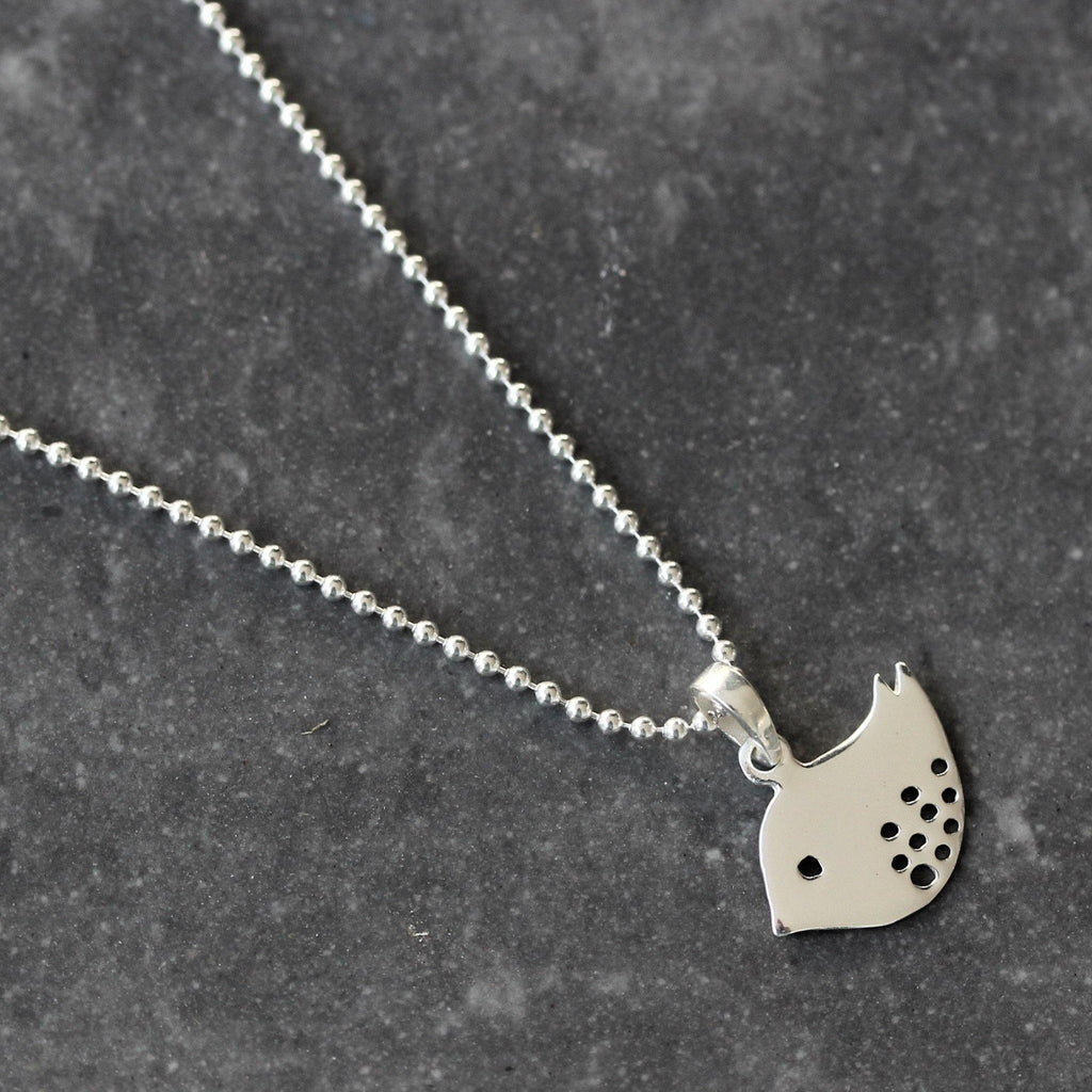 Sterling Silver 925 Dove Bird Necklace 45cm Ball Bead Chain - Pendant + Chain
