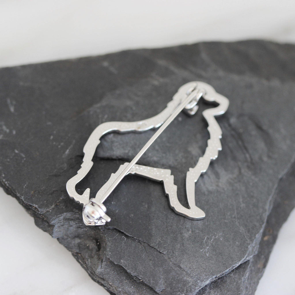 Genuine Sterling Silver 925 Dog Puppy Animal Brooch Pin Cut Out Design