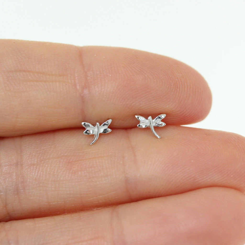 Genuine Sterling Silver 925 Small Tiny Butterfly Earrings Stud Post Earrings