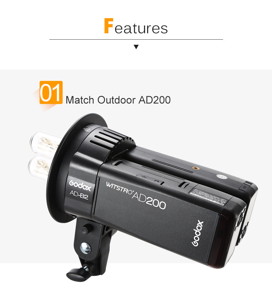 AD200 dual power flash head bracket