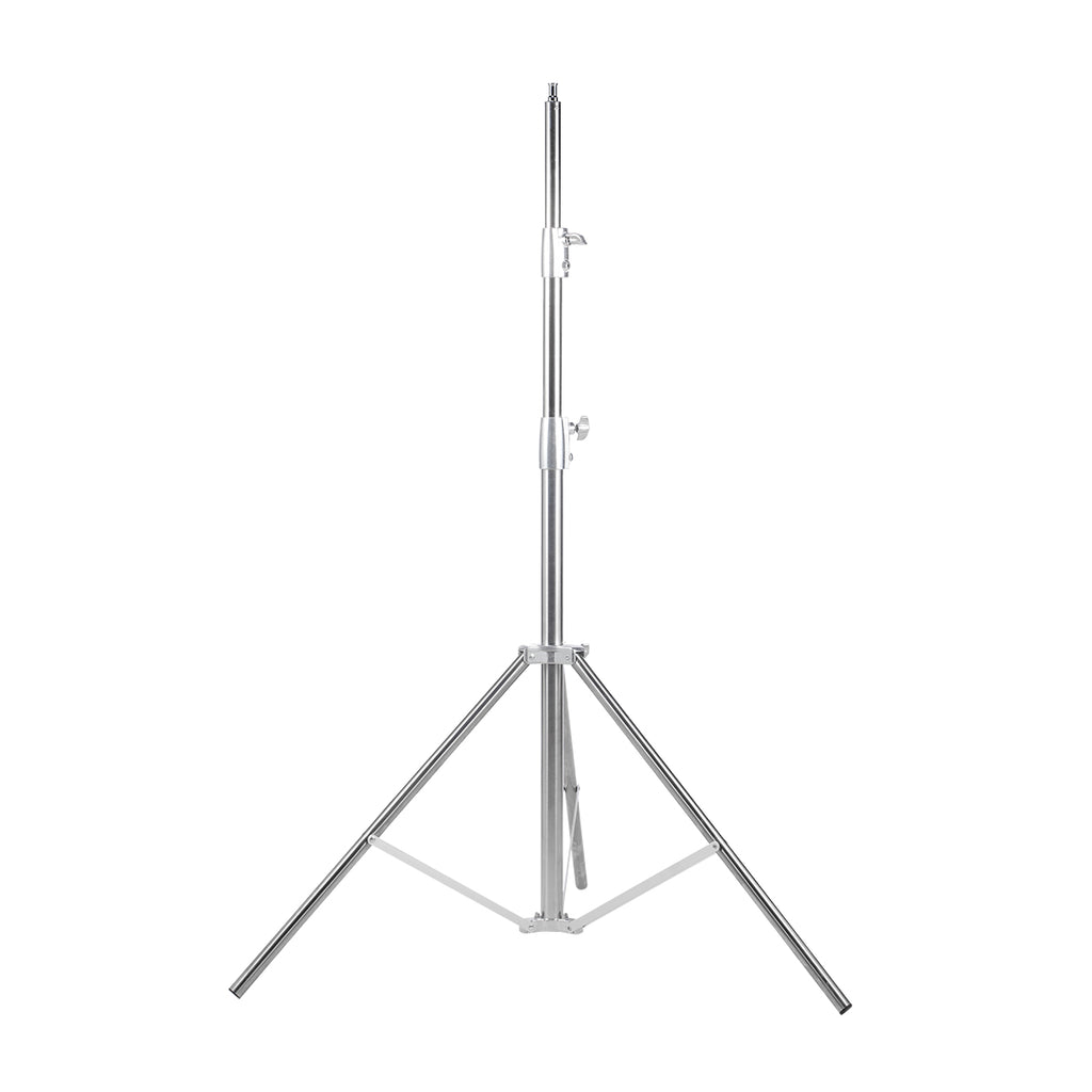 "Fomito Nicefoto 102"" / 260cm Light Stand LS-280S Stainless Steel 3 Section Heavy Duty Built-in Spring for Studio Softbox, Monolight and Other Photographic Equipment (Silver)"