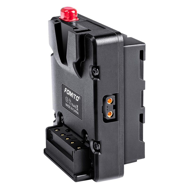 Fomito NP-F Dummy Battery to V-Lock V Mount Plate for Sony F970 F750 F550 Battery to Camera Monitor