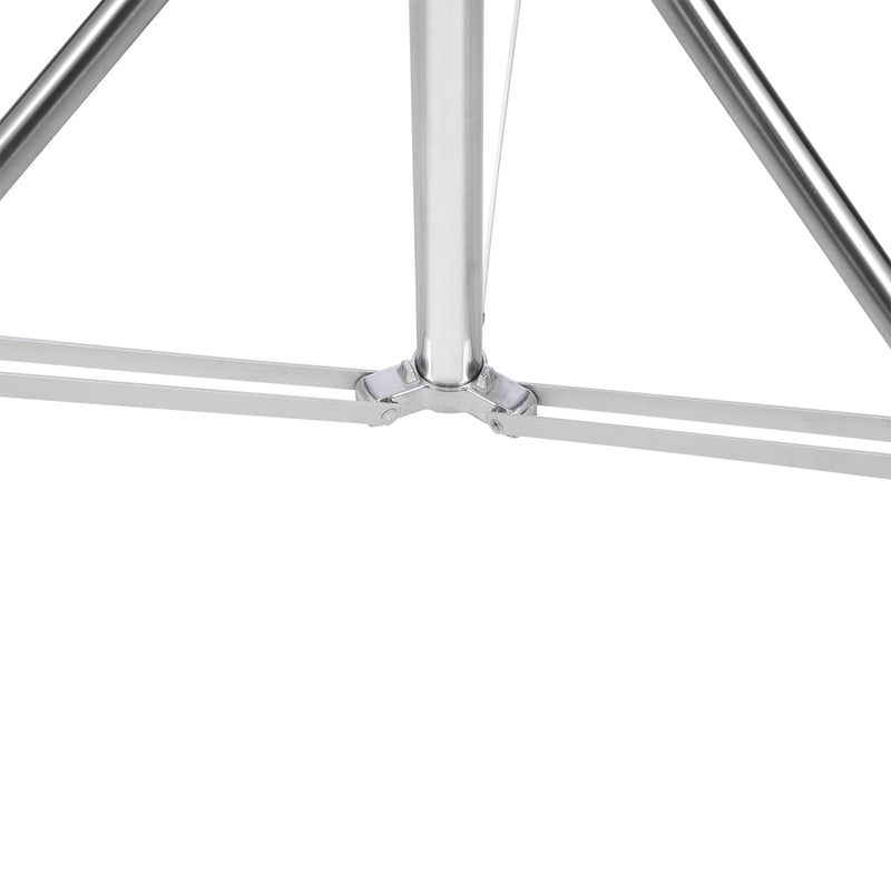 "NiceFoto 102""/260cm Silver Light Stand LS-280S Stainless Steel 3 Section Heavy Duty Built-in Spring"