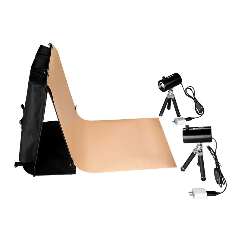 NiceFoto LD-40×40cm Portable Tent Kit 120° COB Light Box Adjustable Angle with Background Plate