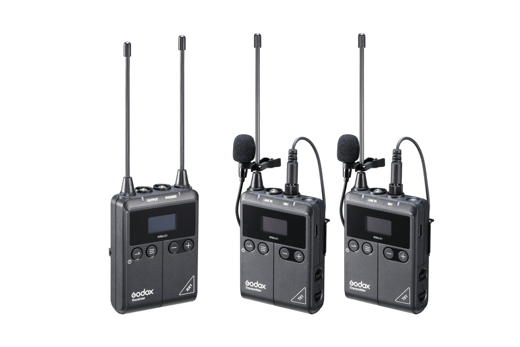 Godox Little Bee UHF Wireless System Transmitter TX1 and Receiver RX1 StickUp Handheld Microphone