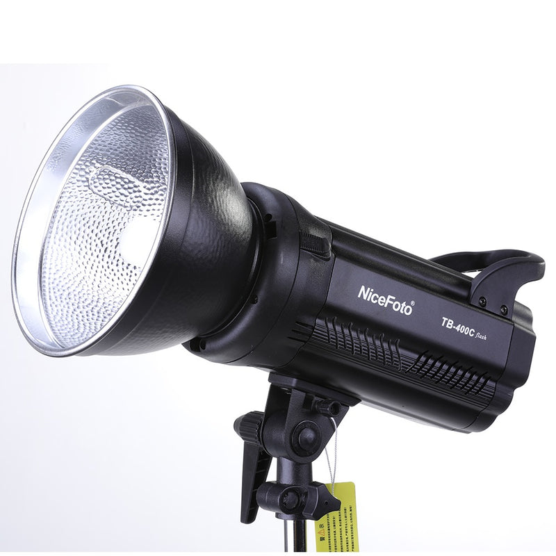 NiceFoto TB-400C 400W GN65 Monolight Strobe Photography Studio Flash with Lamp Head