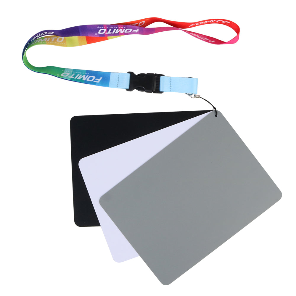 Fomito FMTHKL 18% White Balance Grey Gray Card Waterproof Custom Calibration 7.5x5.5 inches 19x14cm