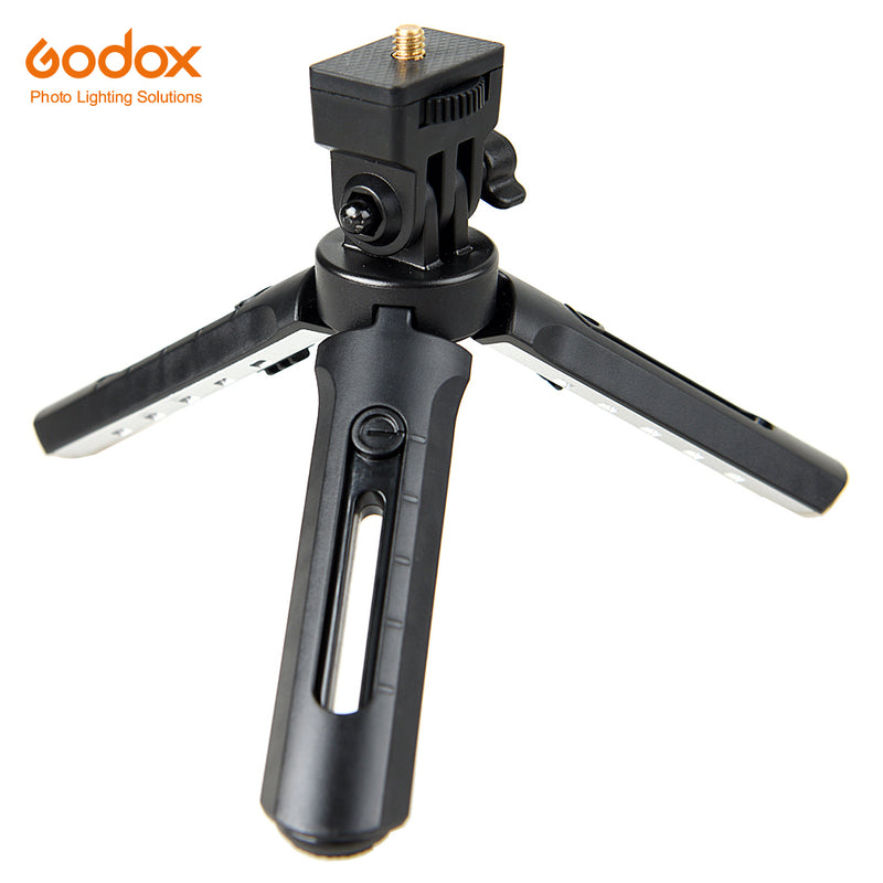 Godox MT-01 Mini Tripod Folding Table top stand and Grip Stabilizer for Godox AD200 Godox A1 Digital Camera, DSLR, Video Camera