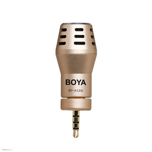 BOYA BY-A100 Mini Microphone 3.5mm Omnidirectional Electret Condenser  Designed for iPhone iPad iPod Touch Video Audio Recording