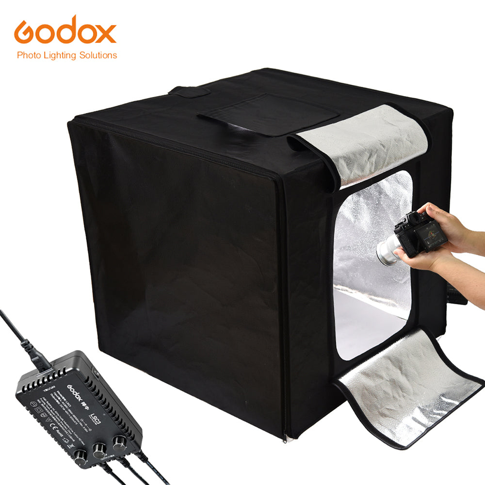 Godox LST60 60W 60*60*60cm 3PCS Mini LED Photography Studio Shooting Tent 15000~19000 Lumen with Carry Bag