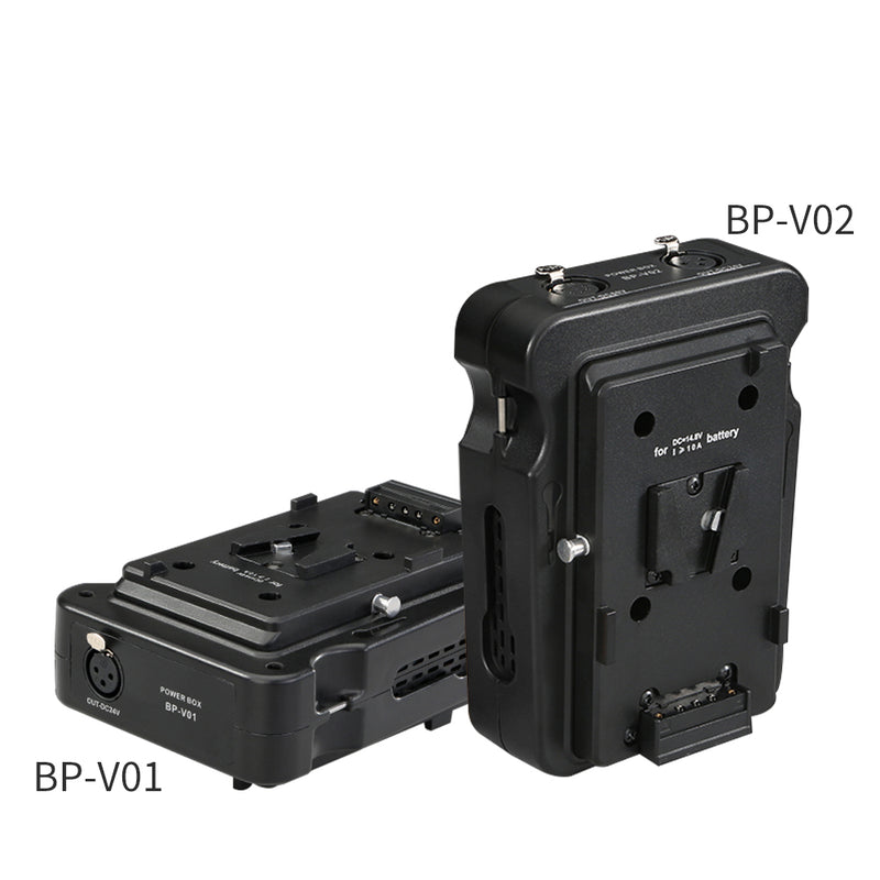 NiceFoto BP-V01 BP-V02 Battery Holder V-Lock Battery Bracket Power Box for BP Lithium Battery