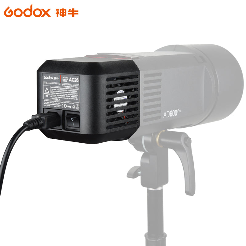 Godox AC-26 AC Power Unit Source Adapter with Cable for AD600B AD600BM AD600M AD600