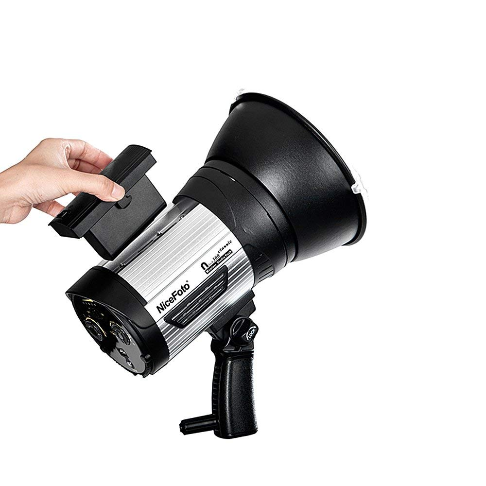 NiceFoto nflash300 300Ws GN54 Wireless Studio Flash with Built-in Wireless Hi-speed Flash Light for Outdoor Flash