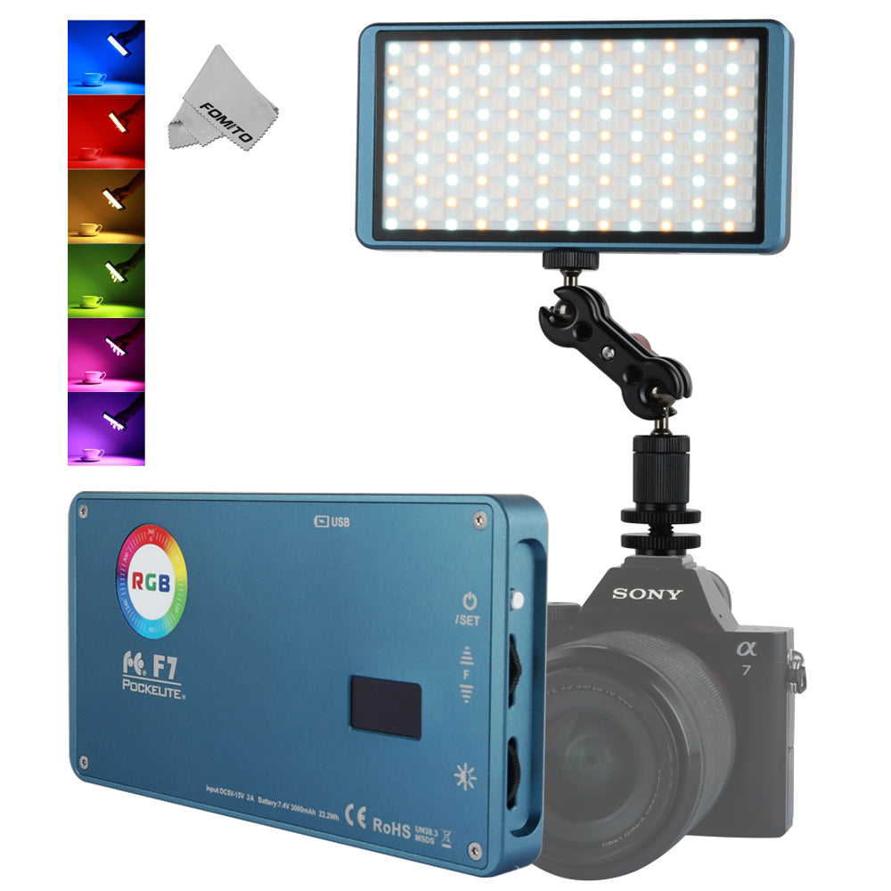 Falcon Eyes F7 12W RGB Portable LED Pocket Fill Light On Camera Light With Special-Effects Mode