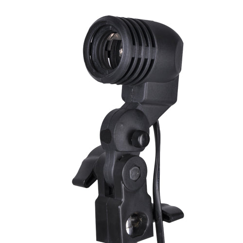 NiceFoto FLH-01 E27 Single Head Photo Lighting Bulb Holder,Umbrella Bracket Photography Studio Ligh For E27