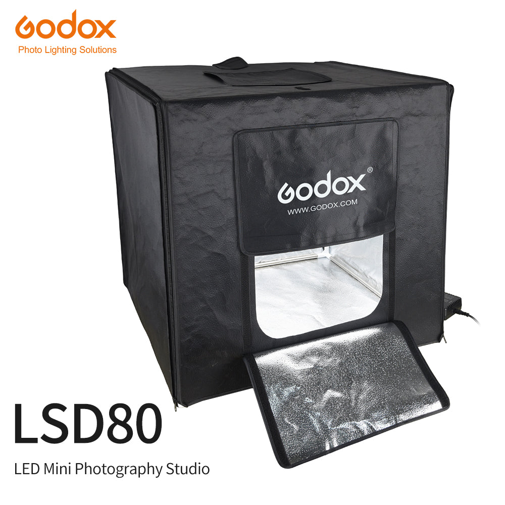 Godox LSD80 80cm x 80cm Portable Foldable Photo Studio Softbox Light Room Box Tabletop Shooting Tent Built In LED Light Soft Box