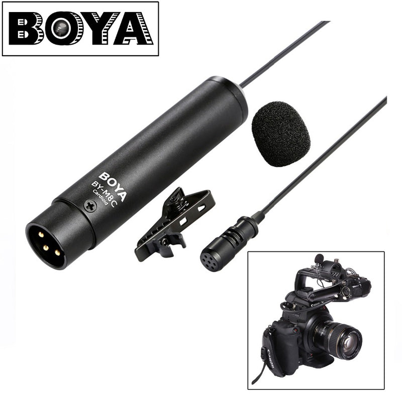 BOYA BY-M8C Lavalier Microphone Professional Clip-On Mic for Camcorders,Audio recorders etc.