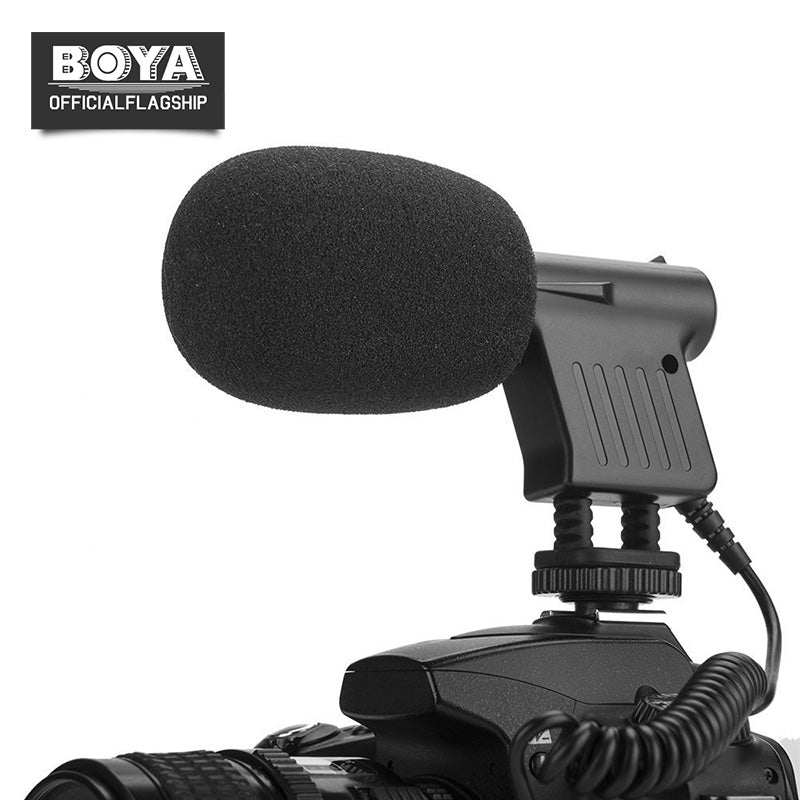 BOYA BY-VM01 Condenser Mini Microphone  Low noise circuitry Broadcast-Quality Mic Unidirectional Condenser microphone