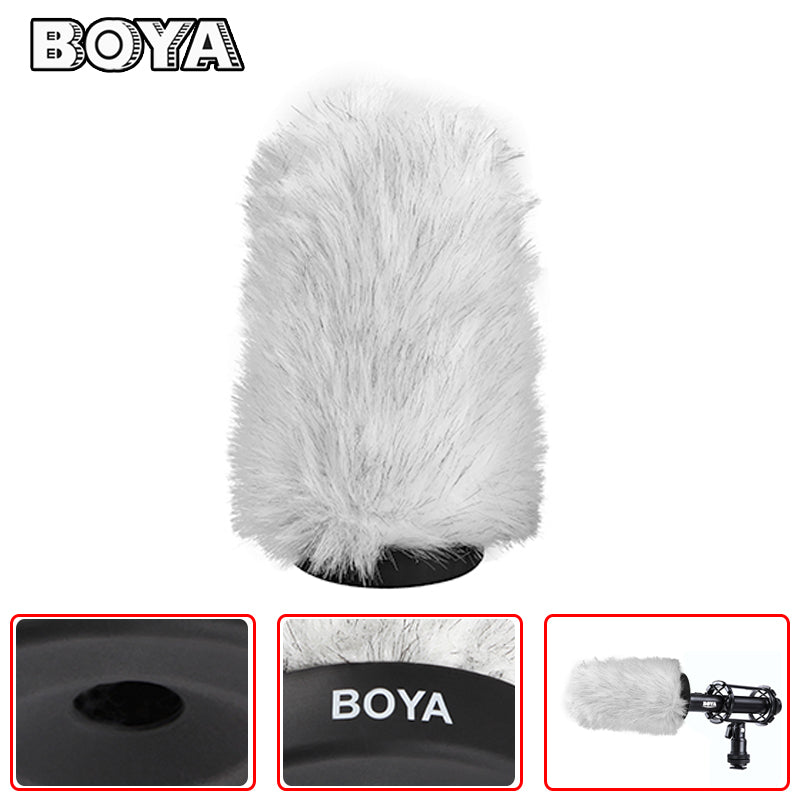BOYA BY-P140 Microphone Windshield Furry Outdoor Interview windproof Windshield
