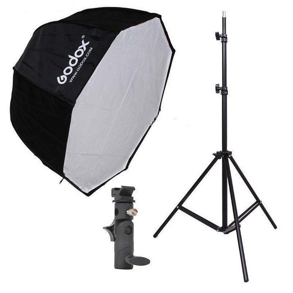 Godox 80cm Octagon Umbrella Softbox and Photography Light Stand kit - FOMITO.SHOP