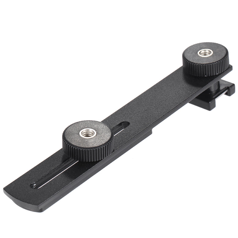 "BOYA BY-C01 Microphone Accessories Aluminium Black Universal Microphone Bracket Additional Cold-shoe and 1/4"" Screw Mount"
