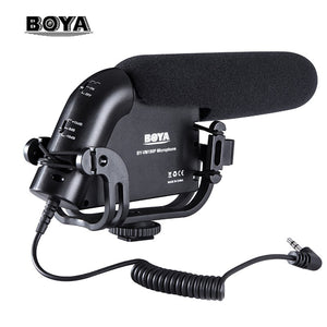 BOYA BY-VM190P Super-Cardioid Microphone 3.5 Output Plug Studio recording quality for Canon Nikon Pentax DSLR Camera Camcorder