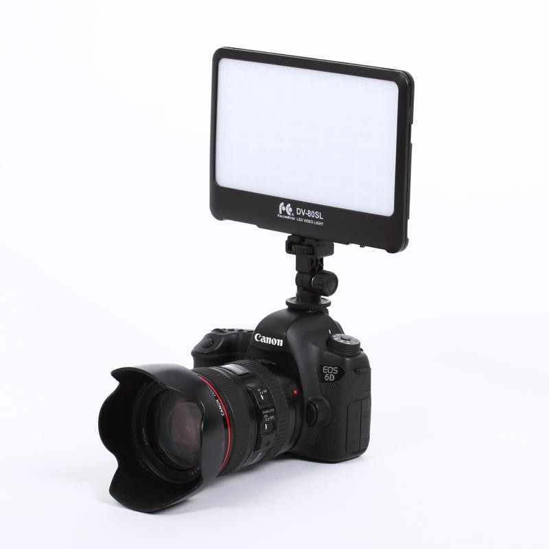 FalconEyes DV-80SL Super Slim Light Weight on Camera LED Light - FOMITO.SHOP
