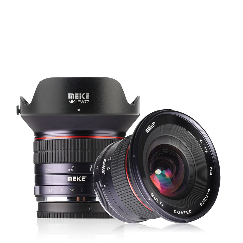 Meike MK-12mm F2.8 Wide Angle Lens Fit for Canon/Nikon/Sony/Olympus/Panasonic/Fujifilm